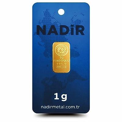 Nadir Goldbarren 1 Gramm, 1g Gold, Goldbarren 1g, LBMA Zertifiziert Mit Hologramm