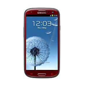 """Samsung Galaxy S lll I9300 Unlocked GSM Phone with 4.8"""" HD Super AMOLED Screen, 8MP Camera, Android OS 4.0, A-GPS and Wi-Fi - Garnet Red"""