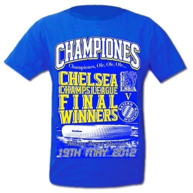 Chelsea 2012 Champions League Winners T-Shirt