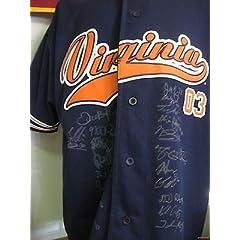 2013 Virginia Baseball Team Signed Jersey Mike Papi Fisher Rare UVA Cavaliers -...