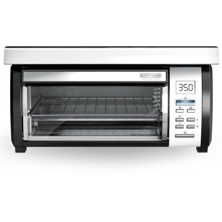 Spacemaker Black and Stainless Toaster Oven with 7 Toast-shade Settings From Light to Dark (Toaster Ovens Small Space compare prices)