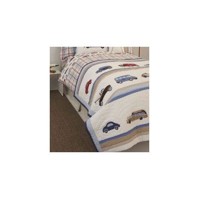 Whistle & Wink Twin Quilt, Cars & Trucks front-171495
