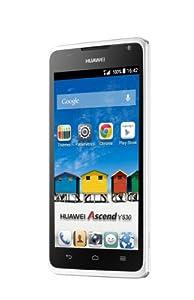 Huawei Ascend Y530 Smartphone (11,4 cm (4,5 Zoll) Touchscreen, 5 Megapixel Kamera, 4 GB Interner Speicher, Android 4.3) weiß