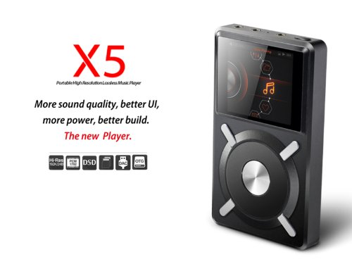 2014 Newest Mp3 Player Digital Music Player Fiio X5 Portable Lossless Music Player Dual Core Cpu Purpose Dap + Usb Dac Quad Balanced Power Supply.