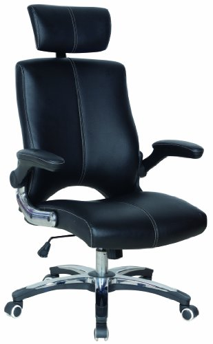 Ergonomic Designer Black Executive Chair with Adjustable Armrests and Adjustable Headrest
