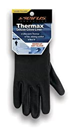 Seirus Innovation 2110 Deluxe Thermax Winter Cold Weather Glove Liner or Lightweight Glove, Black, X-Small