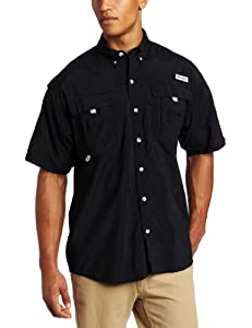 Columbia Men's Bahama II Short Sleeve Shirt, Black, X-Small