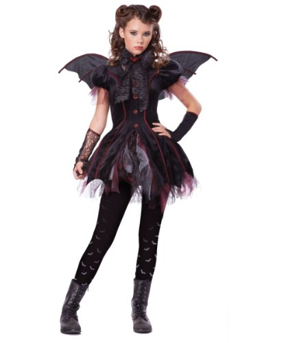Victorian Vampiress Tutu Girls Tween Costume