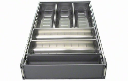 "Blum ZHI.533BI3A TANDEM ORGA-LINE Wide Drawer Cutlery Set for 21"" Wide Cabinets, Nickel"