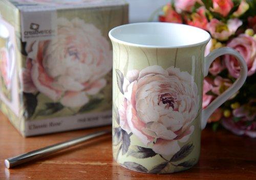 Classic Rose Fine Bone China Mug In A Gift Box