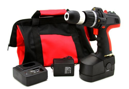 """XtremepowerUS 1/2"""" 24-volt Cordless Laser Guided Drill/driver Kit"""