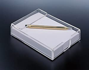 4 X 6 Acrylic Note Pad Holder W/ paper