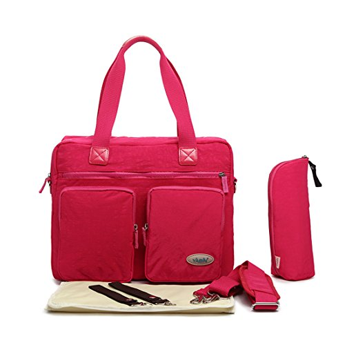 Damai Eco Cotton Material Diaper Tote Bag (Rose Red) front-995580