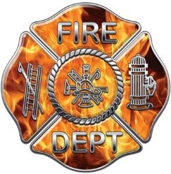 Fire Dept Maltese Cross Inferno Flames - 4