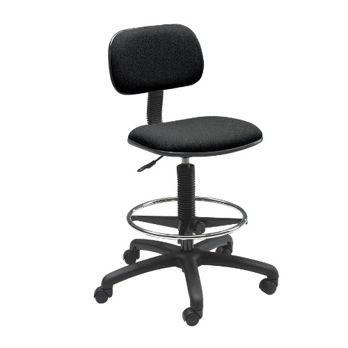 Safco Products Economy Extended-Height Chair, Black, 3390BL