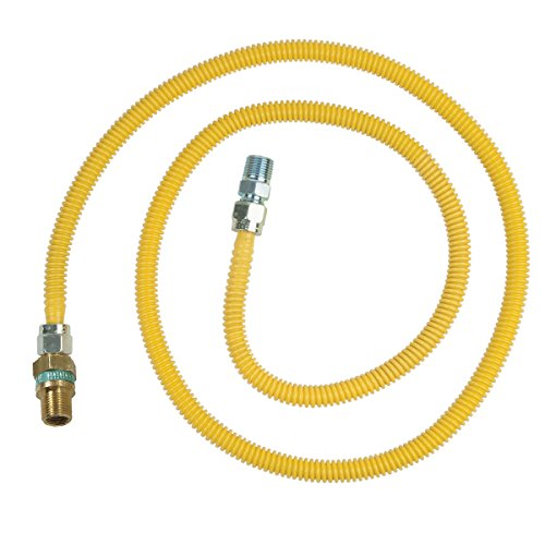 Brasscraft Cssd114E-72 X 3/8-Inch Female Flare Efv X 1/2-Inch Mip X 72-Inch Safety Plus Gas Connector With 1/2-Inch Od