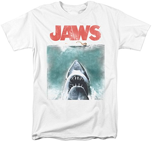 Jaws - Mens Official Vintage Poster T-Shirt, Medium - S to XXXL