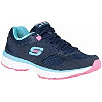 Skechers Agility Perfect Fit Womens Trainers Navy/Turquoise 3 B(M) US