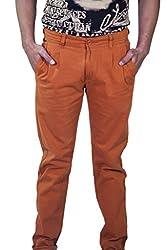 Rollister Men's Casual Pants (0094qq_Orange_36)