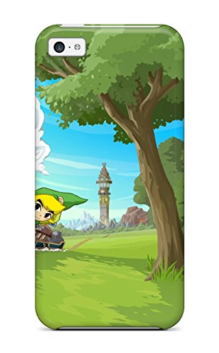 Flexible Tpu Back Case Cover For Iphone 5C - Zelda Spirit Tracks