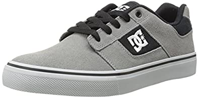DC Men's Bridge Skate Shoe,Grey/Grey/Black,6 M US