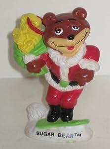 "Vintage 1993 Kraft Sugar Bear PVC Cereal Christmas Tree Ornament 3"""