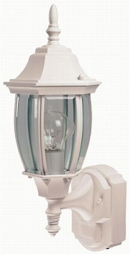 Buy Heath Zenith Six-Sided Die-Cast Aluminum Lantern, White with Beveled Glass #SL-4192-WH