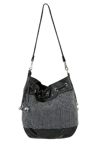 Diamante detail large bucket bag