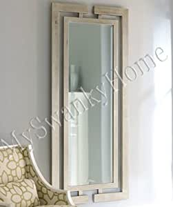 Extra long contemporary silver wall mirror for Long silver wall mirror