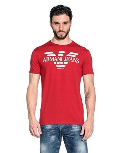Armani Jeans T-Shirt Manica Corta A6H06-Nm 4H [Rosso]