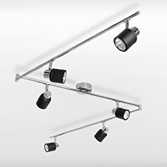 moderne plafonnier applique 6 x spot 3 x rail r glette. Black Bedroom Furniture Sets. Home Design Ideas