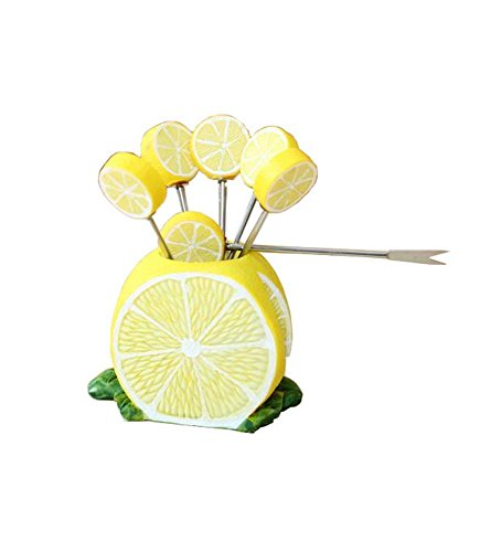 Fashion Creative Gifts demi de citron fruits Forks fourchettes à Dessert 1
