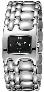 Esprit Women's Quartz Watch Houston Delta Pure Black ES103902004 with Metal Strap