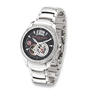 Stainless Steel Black Dial Automatic Watch by Charles Hubert Paris Watches, Best Quality Free Gift Box Satisfaction Guaranteed