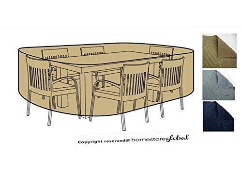 HomeStore Global medium Schutzhülle für Gartenmöbel – Maße ca.: (L) 200 x (D) 180 x (H) 92cm Dick und hochwertigen 600D Polyester Canvas, All-Wetter-beständig und anti-Feuchtigkeit – Braun kaufen