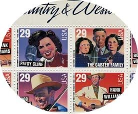 Country Music Legends 20 x 29 Cent U.S. Postage Stamps