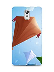 Amez designer printed 3d premium high quality back case cover for Lenovo Vibe P1M (Kites)