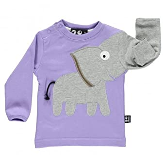 ubang baby langarmshirt elefant lila gr e 86 bekleidung. Black Bedroom Furniture Sets. Home Design Ideas