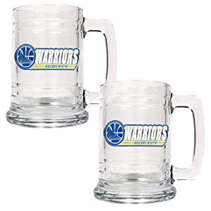 Great American Products NBA Golden State Warriors Team Logo 2pc Glass Tankard Set... by Great American Product