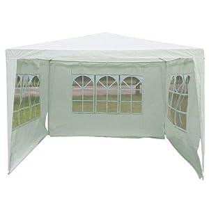 3 x 3m Outdoor Garden Party Tent Gazebo White Ideal for Fetes/ Weddings