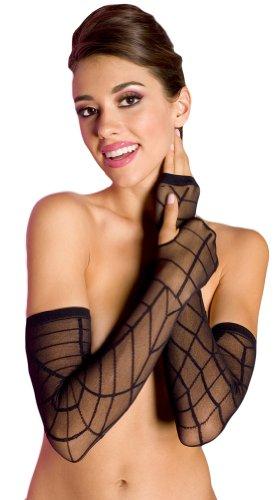 Sheer Spider Web Arm Warmer - One Size - Black