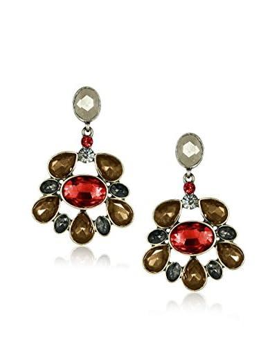 Marlyn Schiff Glass Flower Drop Earrings