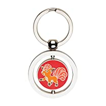 Vulpix and Ninetales Spinning Keychain