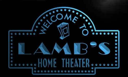 ph1477-b LAMB's Home Theater Popcorn Bar Beer Neon Light Sign (Popcorn The Lamb compare prices)