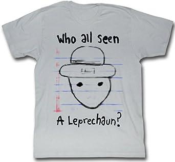 Who All Seen A Leprechaun Sketch Meme Funny Adult T-Shirt Tee