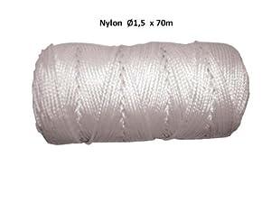 Nylon Maurerschnur weiss 1.5mm x 70m