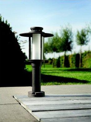 Outdoor Light Pedestal Lantern Low Energy Phillips Santiago Rust Aluminium Ne