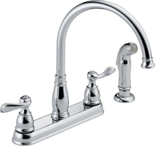 Delta Windemere 21996LF Two Handle Kitchen Faucet, Chrome
