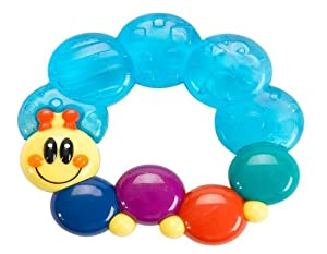 Baby Einstein Rattle and Teethe, Caterpillar, Colors May Vary