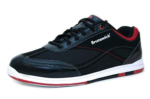 brunswick-flyer-chaussures-de-bowling-noir-adulte-et-enfant-pointure425farbe-schuhenoir-rouge